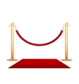 Barrier rope vector image vector image