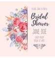 Bridal shower invitation vector image