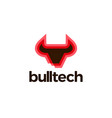 bull tech logo icon vector image