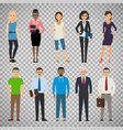 business dressed and casual dressed people vector image vector image