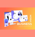 business vision - flat design style colorful web vector image