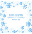 christmas background with snowflakes christmas vector image vector image