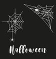 cobweb set spider web halloween black vector image vector image