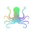 colorful octopus icon stilized logo design sea vector image vector image