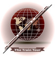 concept of a train tour around the world vector image