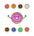 cute colorful donuts on white background vector image vector image
