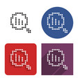dotted icon decrease magnifying glass in four vector image vector image