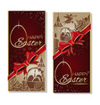 easter greeting card set happy easter design vector image