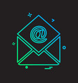 email icon design vector image vector image