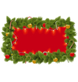 Fir Frame with Garland vector image vector image