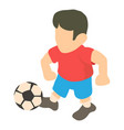 football player icon isometric 3d style vector image