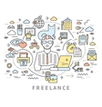 Freelance Conceptual Background vector image vector image
