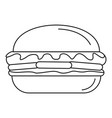 fresh burger icon outline style vector image
