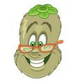 funny kiwi fruit vector image vector image