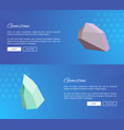 gemstone webpages design with push buttons vector image vector image