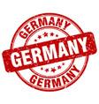 germany red grunge round vintage rubber stamp vector image vector image