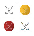 golf ball and clubs icon vector image vector image