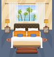 hotel bedroom flat interior design tropical vector image