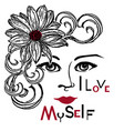 i love myself 3 vector image