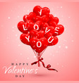 i love you happy valentines day background red vector image