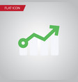 isolated arrow flat icon growth element vector image vector image