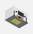 living room isometric interior design concept vector image