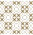 luxury golden mosaic geometric seamless ornament vector image vector image