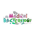 medical bacteriology poster vector image vector image