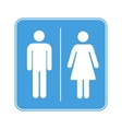 Men and women toilet WC sign on white