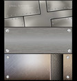 metall steel banner for facebook design vector image