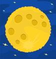 Moon Flat design vector image vector image