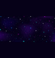 night sky outer space stars nebula constellation vector image vector image