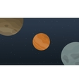 outer space landscape vector image vector image