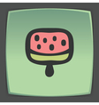 outline fruit ice cream lolly icon Modern logo and vector image