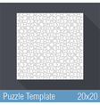 Puzzle Template 20x20 vector image