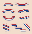 ribbons or banners in colors of netherlands flag vector image vector image