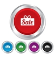 Sale gift sign icon Special offer symbol vector image vector image