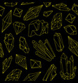 seamless pattern with beautiful gems crystals or vector image vector image