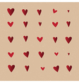 Seamless pattern with hearts repeating texture vector image vector image