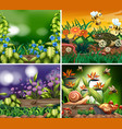 set background scene with nature theme vector image vector image
