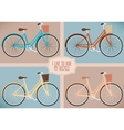 set bicycles vector image vector image