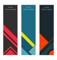 Set Material Design Card and Banners vector image vector image