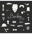 set vintage barber shop design elements black vector image vector image