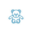 soft toy linear icon concept soft toy line vector image vector image