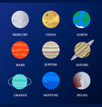 solar system planet set vector image vector image