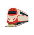 speed modern railway train locomotive vector image vector image