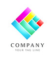 square diamond template with abstract shapes vector image