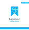 tag easter egg blue solid logo template place for vector image