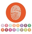 The fingerprint icon ID symbol Flat vector image