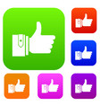 thumbs up set collection vector image vector image